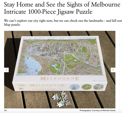 Broadsheet The Melbourne Map Jigsaw
