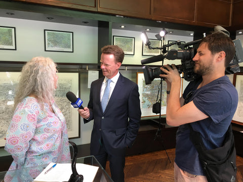 Nine News The Melbourne Map exhibition in Collins Street
