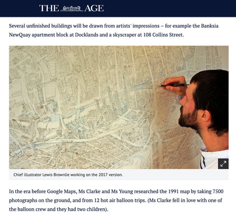 The Melbourne Map The Age updating a new version