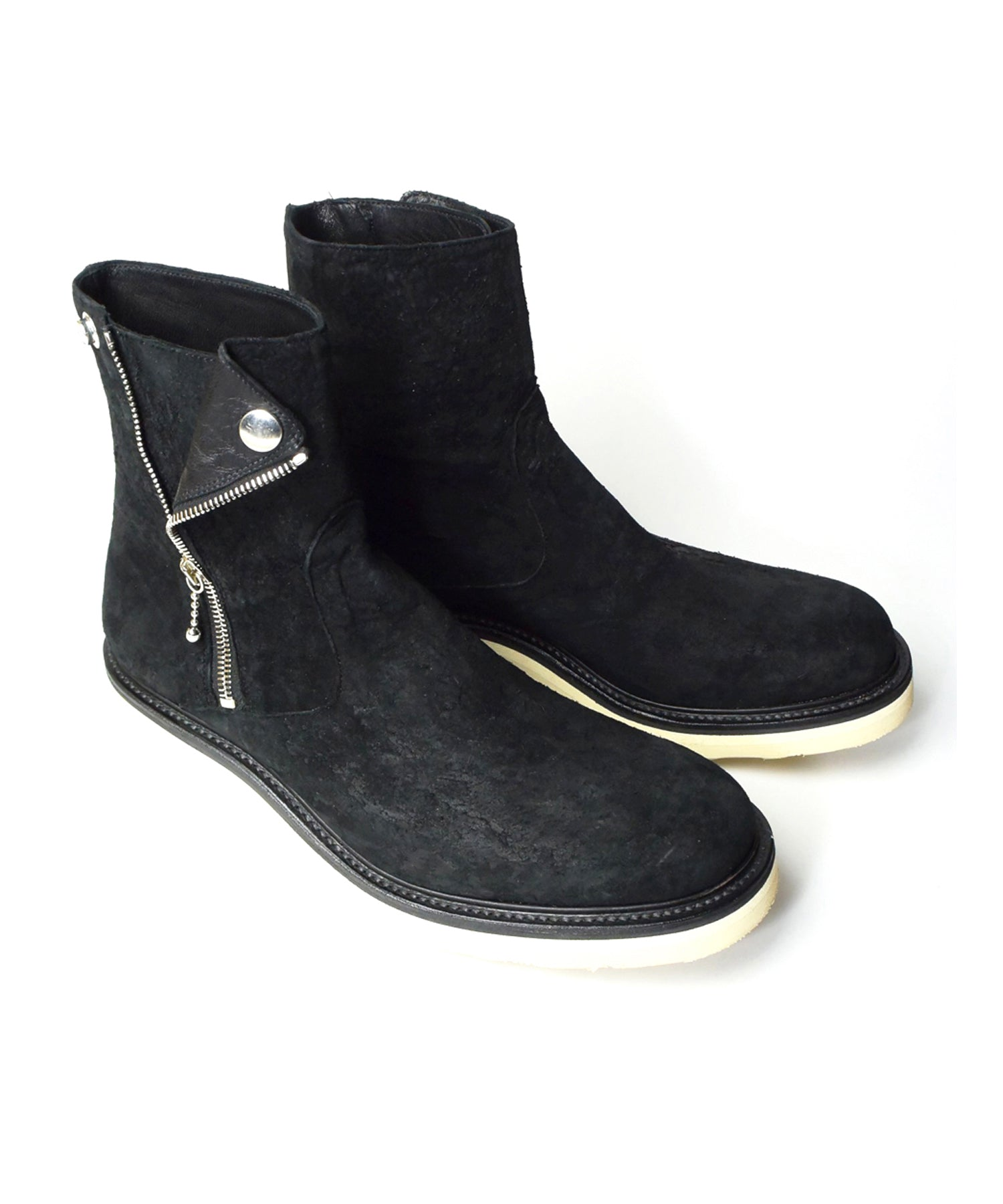 将图片加载到图库查看器,New Zealand Lamb Full Vegetable Tanned Scraping Double Riders Boots