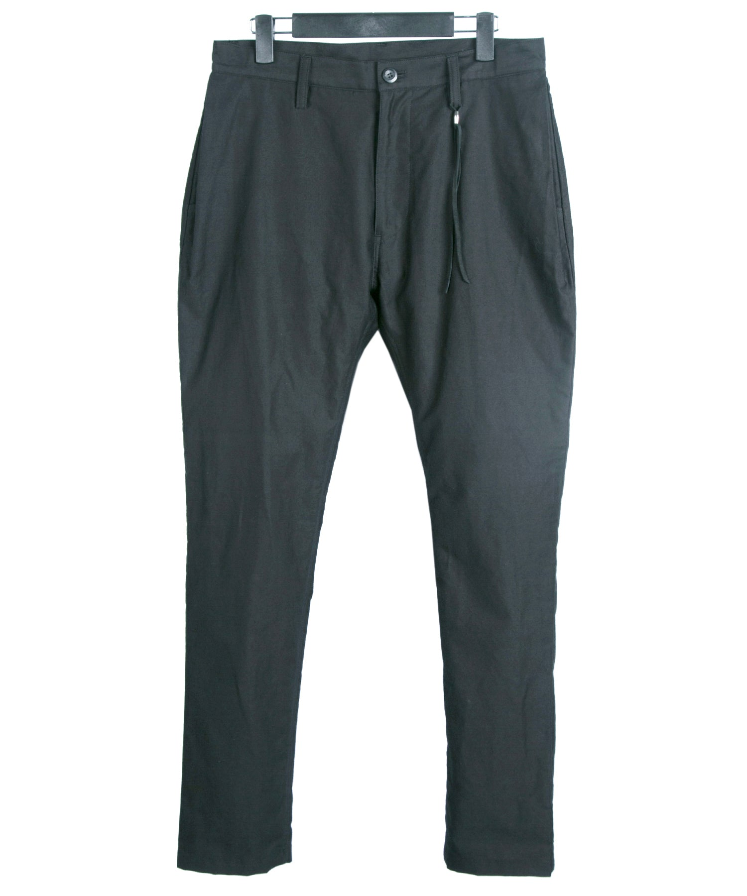 将图片加载到图库查看器,Light Moleskin Pratt Air-in Processed Tapered Pants / Black