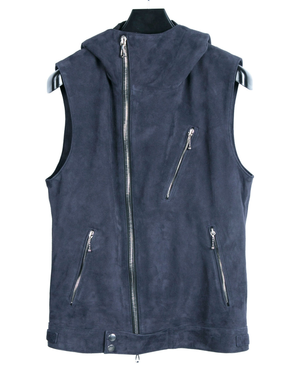 Highland Lamb Silky Suede Hoody Vest