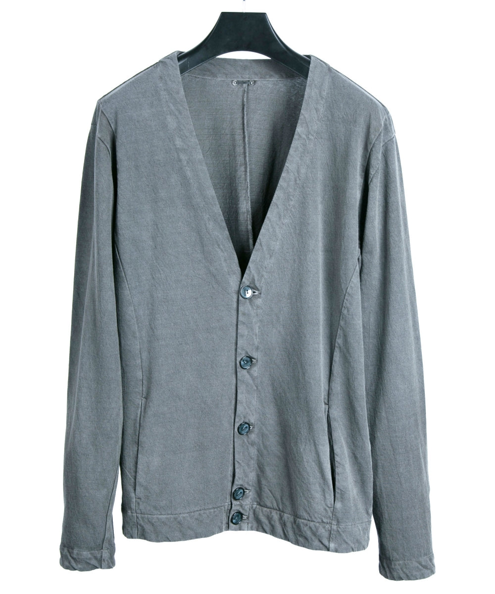 Pigment dyed Cut & Sewn Cardigan / Gray