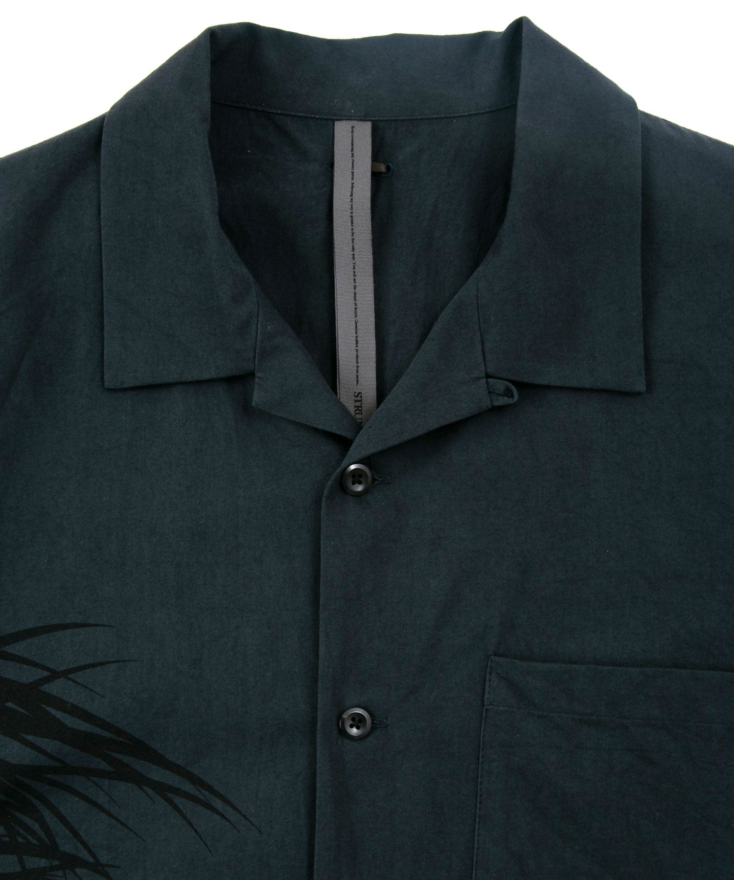 Load image into Gallery viewer, Grange Wash Open Collar Shirt / Navy Gray
