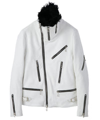 Load image into Gallery viewer, Aldehyde Tanned Deerskin Riders Jacket / PURE WHITE