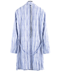 Load image into Gallery viewer, Tuck Stripe Stretch Half Coat / Blue