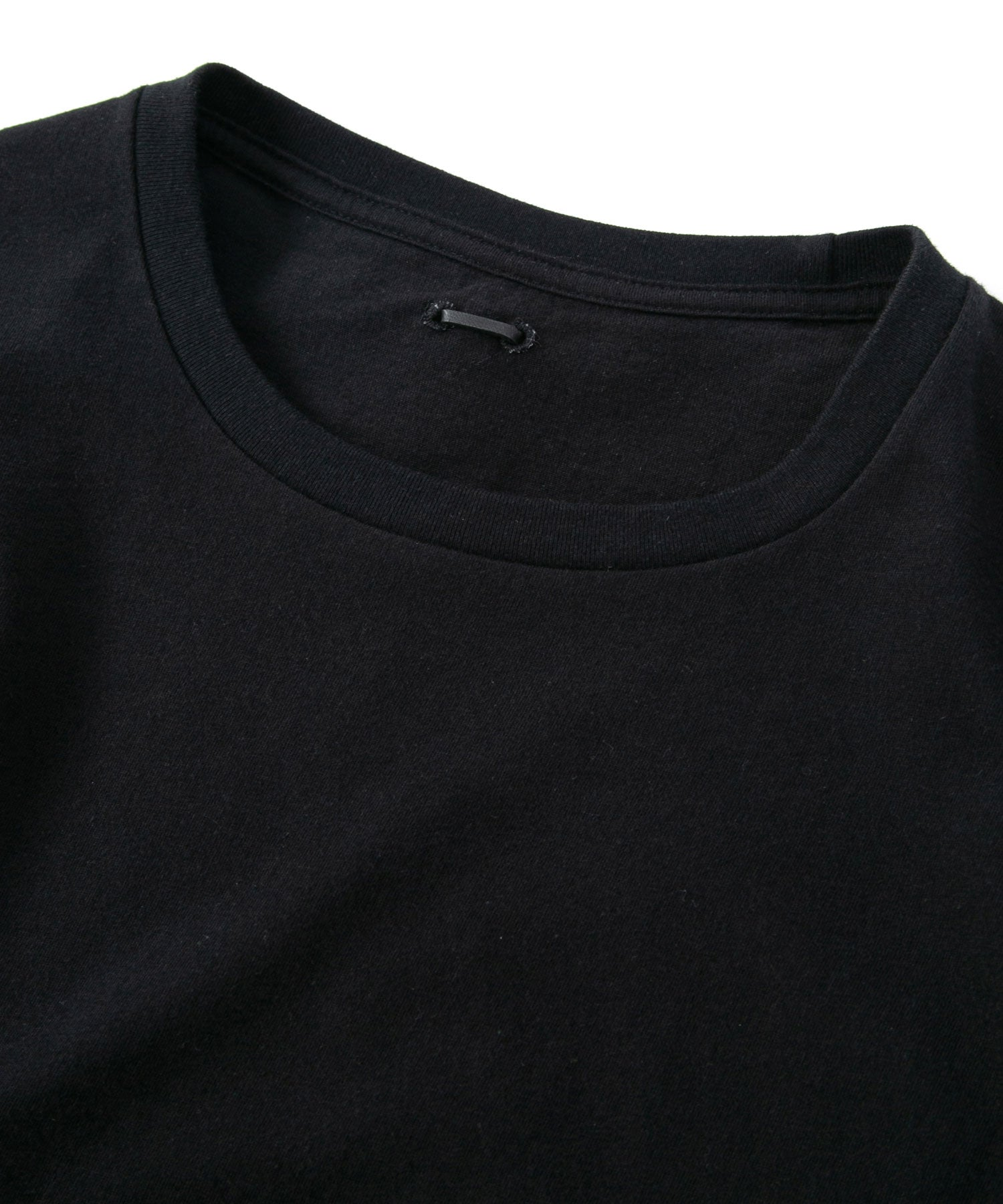 Load image into Gallery viewer, Natural Soft Cotton Plain Stitches Crew Neck Wide Long T-Shirt / BLACK