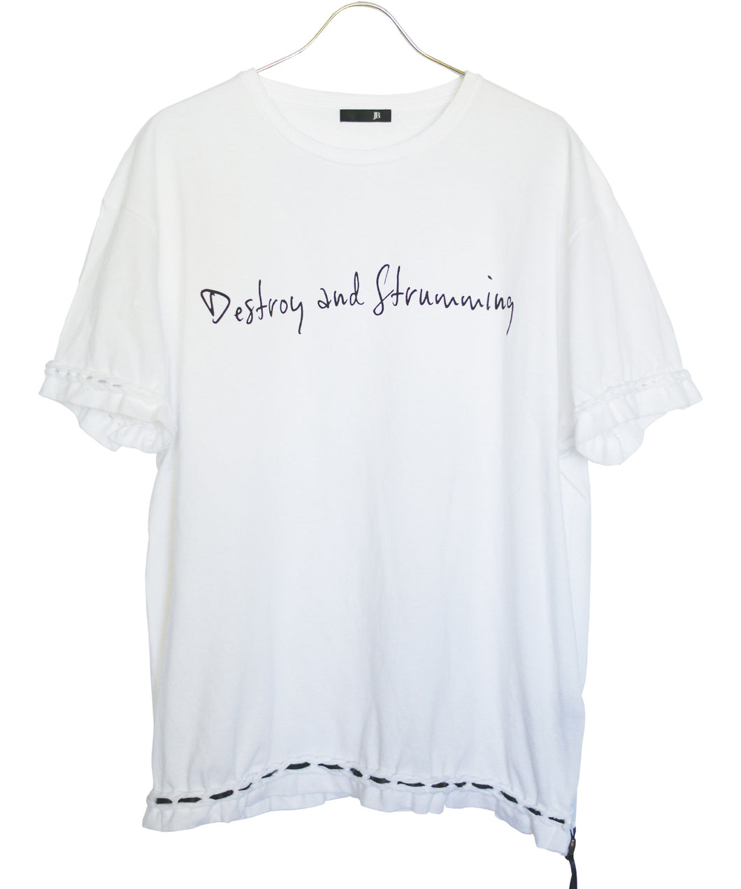 STRUM × JOHNNY BUSINESS『Destroy and Strumming』Tシャツ / ホワイト