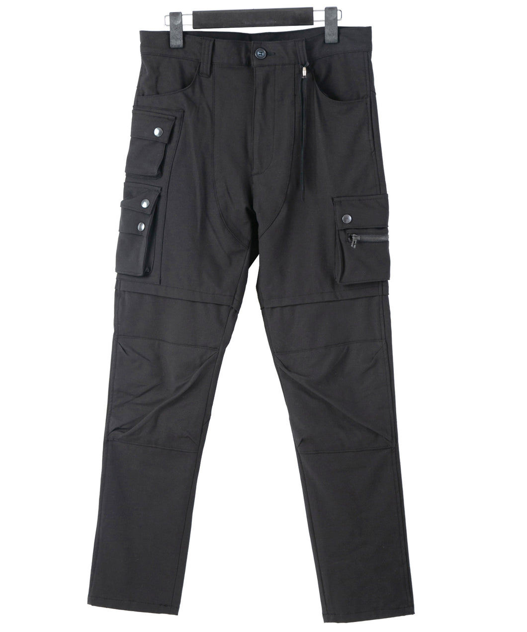 Stretch Twill Biker Pants / Black