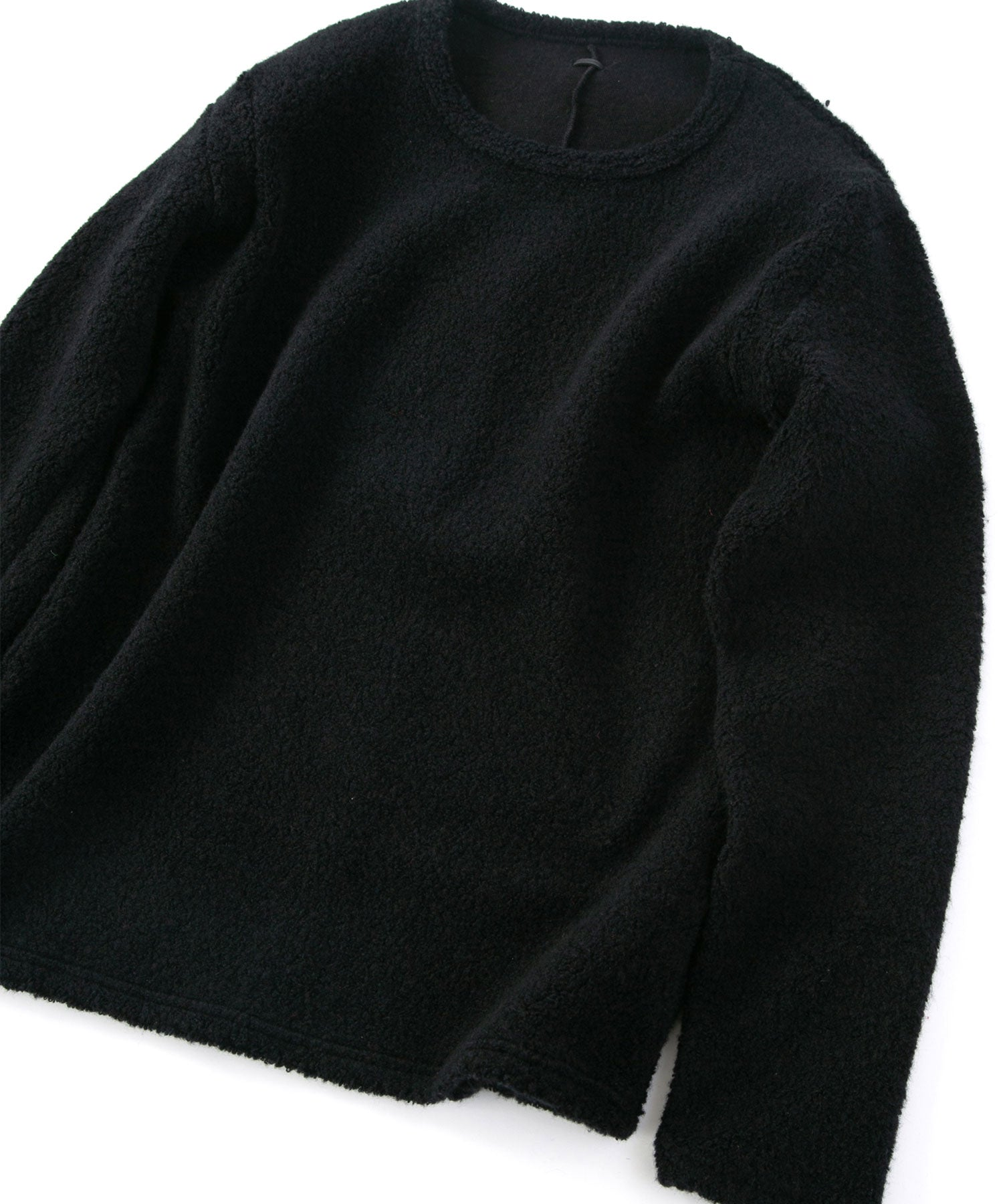 Load image into Gallery viewer, Wool Nylon Sheep Pile Pullover / Black