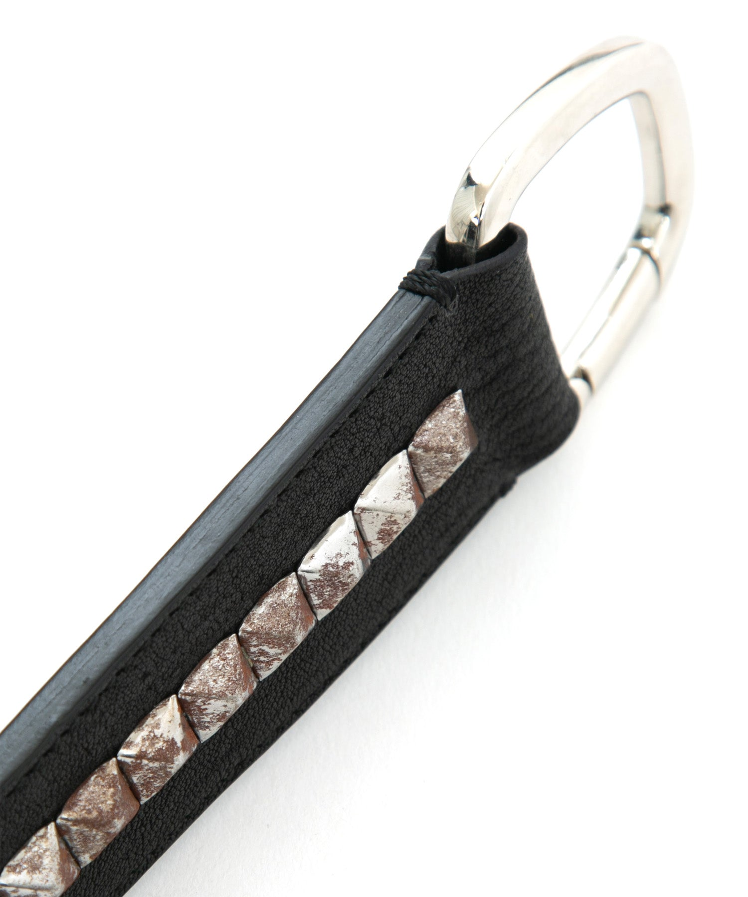 将图片加载到图库查看器,[Session] Pit Vegetable Full tanned Shrank Horse hide studs key chain / black