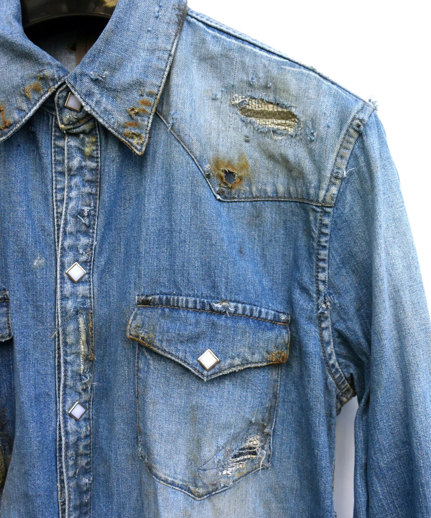 Load image into Gallery viewer, 8oz Three Twill Denim Shirt / Indigo