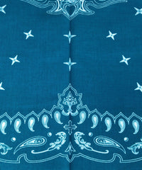 Load image into Gallery viewer, Cotton Bandana / Turquoise x White