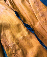 Load image into Gallery viewer, Domestic Vegetable Full Tanned Calf Skin Garment Dyed Long Jacket