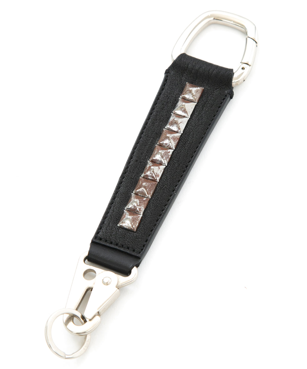 [Session] Pit Vegetable Full tanned Shrank Horse hide studs key chain / black