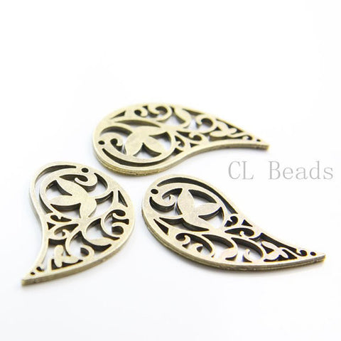 Base Metal Charms-Wing 36x20mm (1030X)