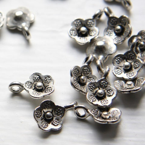Base Metal Charms-Flower 14x10mm (1060Y)