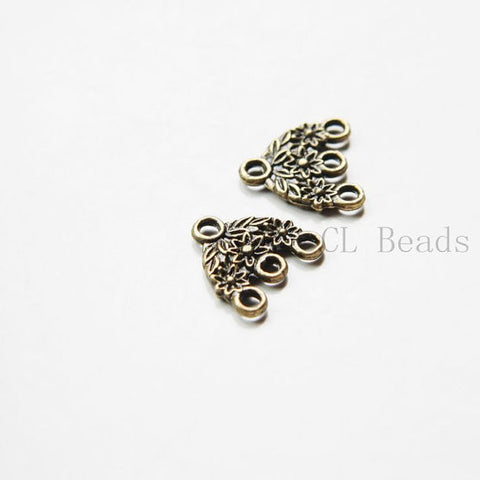 Base Metal 3 to 1 component or earring findings - 15x15mm (11357Y)