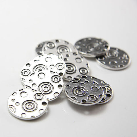 Base Metal Charms- Round - Double Side 19mm (11559Y)