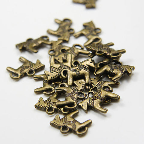 Base Metal Charms- Rocking Horse 14x12mm (11796Y)