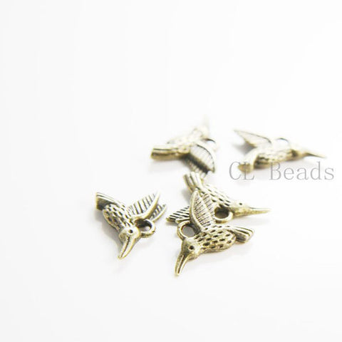 Base Metal Charms-Hummingbird 12x15mm (12015Y)