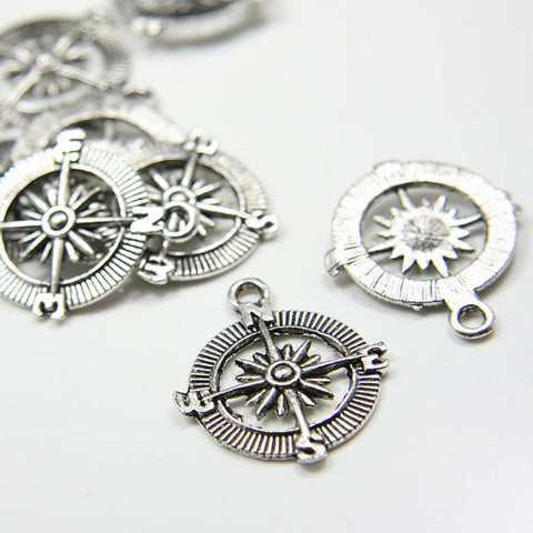 Base Metal Charms-Compass 29x25mm (12683Y)