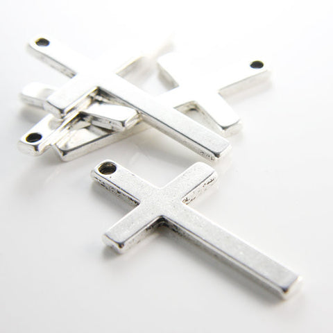 Base Metal Pendants-Cross 52x29mm (12749Y)