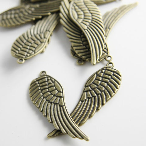 Base Metal Charms-Wing 50x16mm (1279Y)