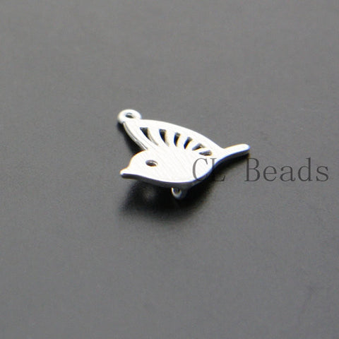 Brass Base Bird Charms - 15.3x14.4mm (1288C)