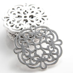 Base Metal Charms-Flower 42mm (12983Y)