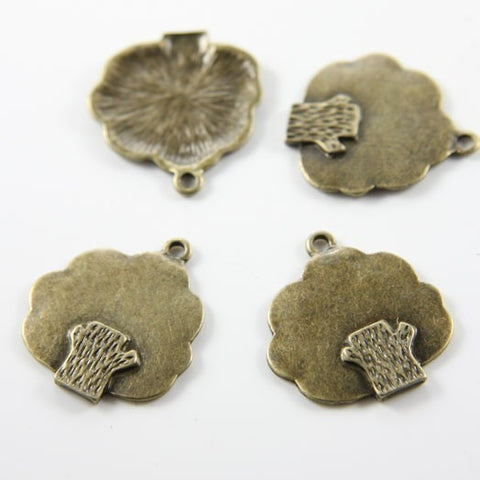 Base Metal Charms-Tree 25x23mm (13672Y)