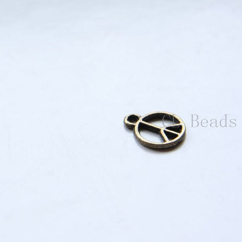 Base Metal Charms-Peace Sign 12mm (13679Y)