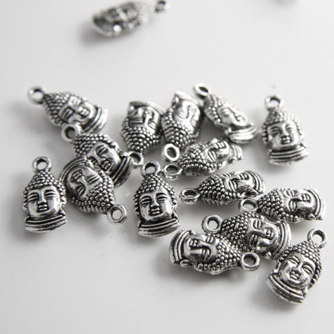 Base Metal Charms-Buddha Head 16x8mm (14283Y)