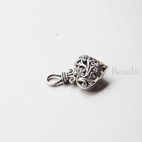 Base Metal Charms-Heart 30x19mm (15391Y)