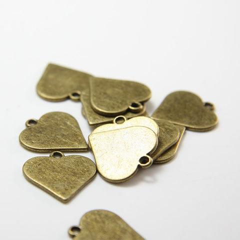 Base Metal Charms-Poker-Heart 20x18mm (15495Y)