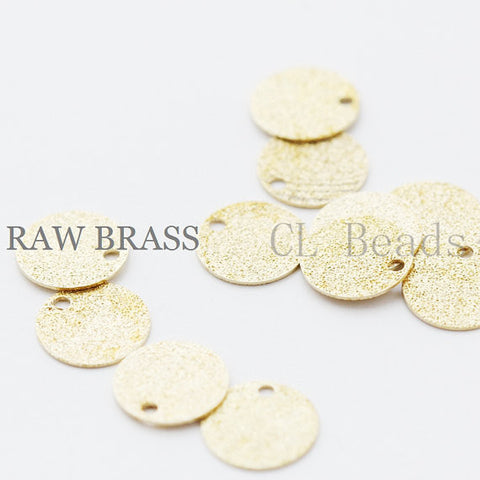 Brass Base Stardust Tags - Round 10mm (1758C)