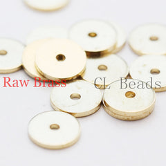 Brass Base Center Hole Round Disc - 8mm (1836C)