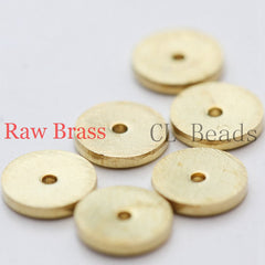 Brass Base Center Hole Round Disc - 6mm (1843C)