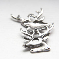 Base Metal Charm - Deer Head 38x38mm (18630Z)