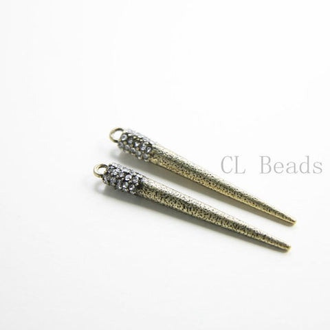Base Metal Charm - Spike - Conical - Point of View 41x4mm (186C)
