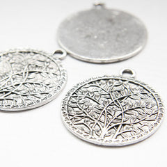 Base Metal Charm - Tree 49x43mm (18704Z)