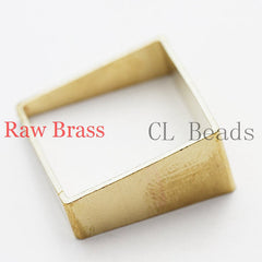 Brass Base Earring Component - Square - 25mm (1870C)