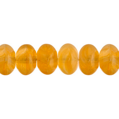 100 Pieces Czech Glass Donut Beads - BUTTER YELLOW 8mm (PG9700002)