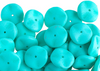 12pcs Czech Preciosa Ripple Beads - Waved Disk - Silk Matt Sea Green 12mm (73S8)