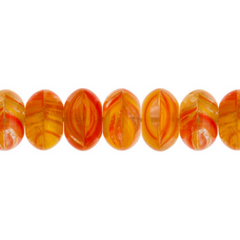 100 Pieces Czech Glass Donut Beads - DARK SALMON 8mm (PG9700020)
