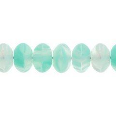100 Pieces Czech Glass Donut Beads - MATTE MINT GREEN 8mm (PG9700011)
