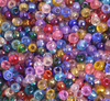 25 Grams Czech Rocailles Preciosa 6/0 Seed Beads - TRANSPARENT IRIDESCENT MULTI-Size 6