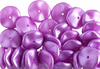 12pcs Czech Preciosa Ripple Beads - Waved Disk - Pearl Pastels Violet 12mm (48S8)
