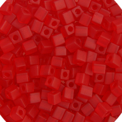 Japanese Miyuki Cube Bead - Matte Dark Red Opaque 4mm - 20 Grams