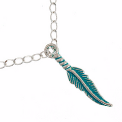 Base Metal Charms-Feather 28mm